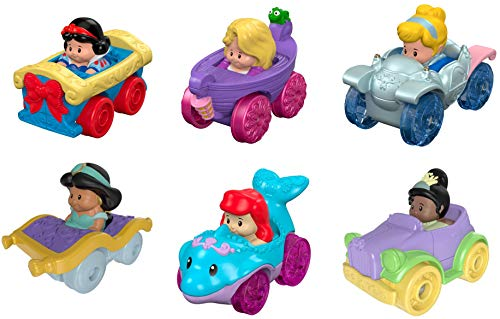 Fisher-Price Little People Disney Princess, Wheelies Gift Set (6 Pack) [Amazon...