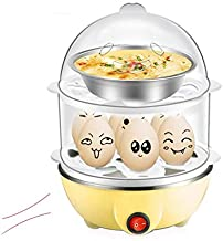 ZYSWP Egg Steamer Double-Layer Lazy Large-Capacity Electric Boiled Egg Multifunction, Heated Milk, Heating with Automatic ...