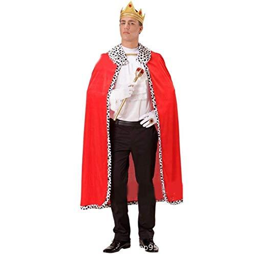 lingzhuo-shop Koning mantel voor volwassenen, voor Halloween, kostuums, party, cosplay, voor volwassenen, vintage, styling, persoonlijkheid, creatief
