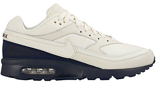 Nike Mens Air Max BW Premium Running Shoes Sail/Midnight Navy 819523-104 Size 10