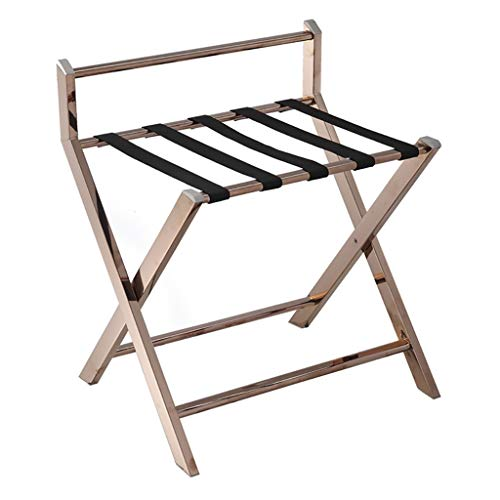 Review Of GDXLJ Folding Luggage Rack Hotel Room Foldable Luggage Rack, Stainless Steel Bedroom Shelv...