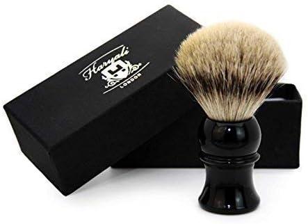 Heren scheerkwast in zwart handvat met Pure Sliver Tip Badger HairPerfect voor alle soorten scheren Perfect als geschenk Wordt geleverd in een designerdoos