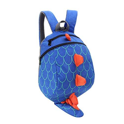 AIni Rucksack Kinder Kinder Kinder Jungen Mädchen Mode Niedlichen Karikatur 3D Dinosaurier Schulter Rucksack Taschen Kinderrucksäcke Rucksäck Blau