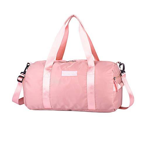 Hoomysyer Grote Premium kwaliteit Gym Bag Duffle Bag handtas Sporttas Droog Reizen Overnachting Weekend voor Man en Vrouwen Roze 49 * 25 * 16cm