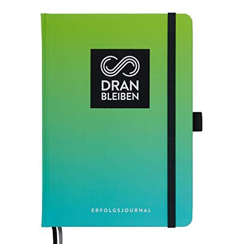 DRANBLEIBEN Erfolgsjournal – für Ziele, Fokus, Selbstreflexion, Achtsamkeit & persönliche Entwicklung – DIN A5 (Startversion, Fresh Green)