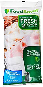 18-Count FoodSaver 1-Quart BPA-Free Multilayer Vacuum Zipper Bags