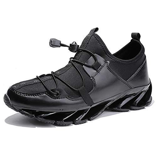 Y-XCV Mens Low Boots-beiläufige Turnschuh Art Und Weise Atmungsaktiv Lauftrainer Leichte Cricket Schuhe (Color : Black, Size : EU42/UK7.5/US8.5)