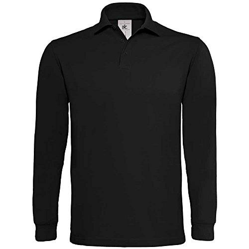 B&C Mens Heavymill Long-sleeved Polo Shirt