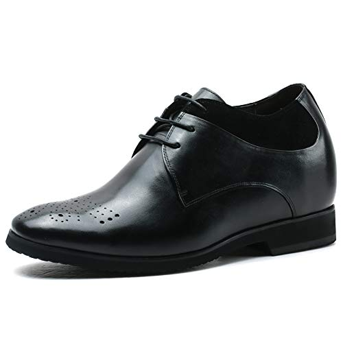 Faretti Elevator Shoes +10 cm Aufzug Anzug Lederschuhe Anzugschuhe Herren Business Leder Schuhe Größer Machen mit Versteckte Absatz Schuheinlagen Schuh Erhöhung Lift Schuhe Serafino I 38