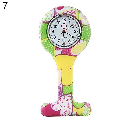 Redmei Fashion Top Populaire Merk Arabische Numeralen Ronde Wijzerplaat Siliconen Verpleegkundigen Broche Tuniek Fob Pocket Horloge