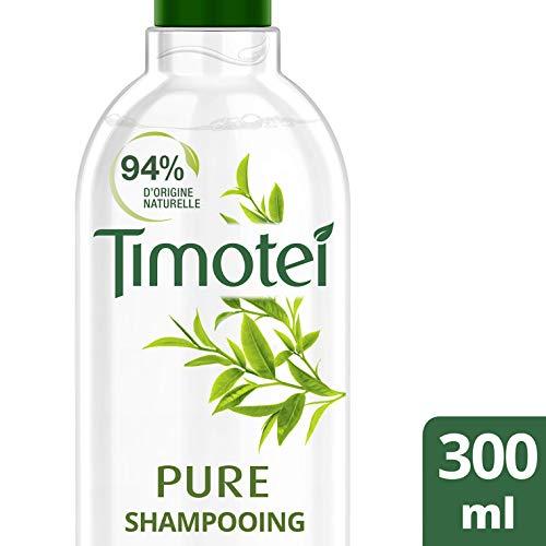 Timotei Shampoing Femme Pure Extrait de Thé Vert Bio 100% d'origine naturelle Cheveux normaux regraissant vite 300ml