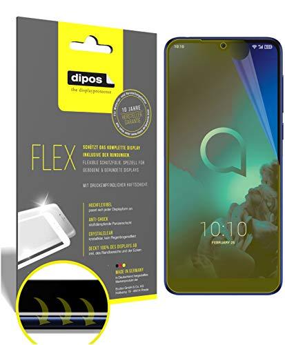 dipos I 2X Schutzfolie 100prozent passend für Alcatel 3L Folie I 3D Full Cover Bildschirmschutzfolie