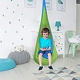 Costzon Child Pod Swing Chair Tent Nook Indoor Outdoor Hanging Seat Hammock Kids (Green)