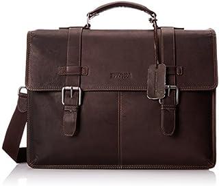 "Kenneth Cole Reaction Colombian Leather Dual Compartment Flapover 13"" Laptop Business Portfolio"