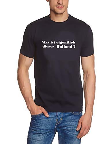 Coole-Fun-T-Shirts Herren T-Shirt was ist eigentlich Dieses Holland ?, Navy, GR.XL