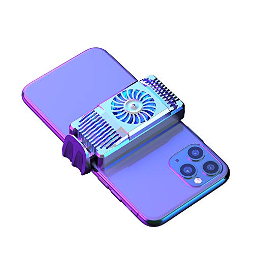 Cell Phone Cooler for iPhone Semiconductor Heatsink Phone Radiator for Android Phones 4-6.7 inch Play Games Lives Watch Videos (Silver)
