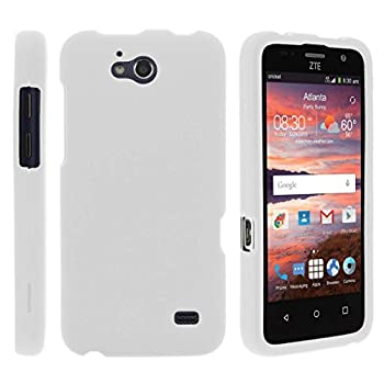 TurtleArmor   Compatible with ZTE Maven Case   ZTE Fanfare Case   ZTE Atrium Case [Slim Duo] Fitted Slim Hard Cover Matte Snap On Shell Protector on White Beach - White