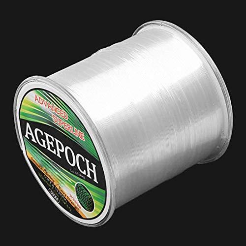 QiuGe Japanische Material Monofil Karpfen Angelschnur 5,0# 0.37mm 13.5kg Tension 500m Extra Strong Imported Rohseide Nylon Angelschnur (Grass Gelb) (Color : Transparent)