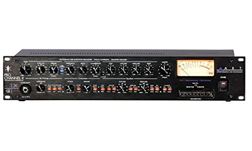 ART Pro Channel II Microphone Preamp Compressor EQ Professional Tube Based Selectable VU Metering