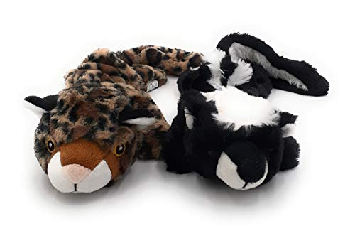 Zip Dog Soft and Durable Interactive Chew Dog Toys - Non-Toxic Cute Plush Toys for Puppies for a Fun Game of Fetch Leopard and Skunk (Get 2 Packs For The Price Of 1 Pack) 33 Packs to Choose From