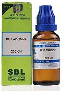 SBL Belladonna 200 CH (30ml) - Pack Of 1 Bottle & (Free St. George's COF MIX - An Ideal Remedy for COUGH 60ml with Every O...