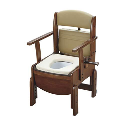 リッチェル 木製トイレ きらく コンパクト やわらか便座 18520