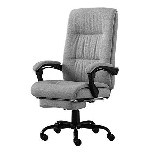 JIEER-C stoel voor de tijd Libero draaistoel 360 ° draaibare bureaustoel ergonomisch gevormde armleuningen met rugleuning in hoogte verstelbaar 44-50 cm robuust Resist Grijs