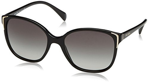 Prada PR01OS Sunglasses-Gray Gradient lens Black (1AB3M1)-55mm
