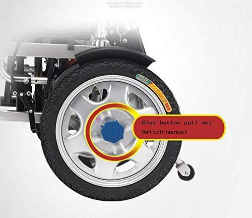 TYZXR Leichter, zusammenklappbarer, tragbarer Elektrorollstuhl Deluxe-Rollstuhl mit Zwei Motoren und kompakter Mobilitätshilfe Geeignet für alle Arten von Personen, Schwarz, 20A, Schwarz, 20A