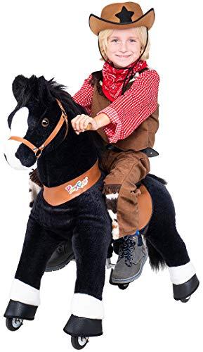 Ponycycle Black Beauty - Schaukelpferd - Kuscheltier auf Rollen - Inline - Kinder - Pony - Pferd - Reiten - Plüschtier - MyPony (U-Serie Modell 2020 Medium)