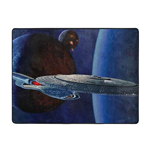 KANKANHAHA Star Trek - Felpudo antideslizante para puerta de casa, 63 x 48 pulgadas