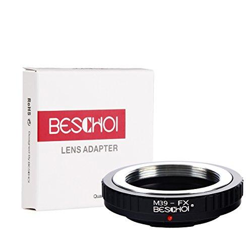 Beschoi M39-FX Objektiv Adapter Ring für Leica 28mm/90mm M39 Mount Objektiv auf Fujifilm X-Mount Bajonett Systemkamera Fuji Finepix X-T1,X-E2,X-E1,X-A1,X-M1,X-Pro1