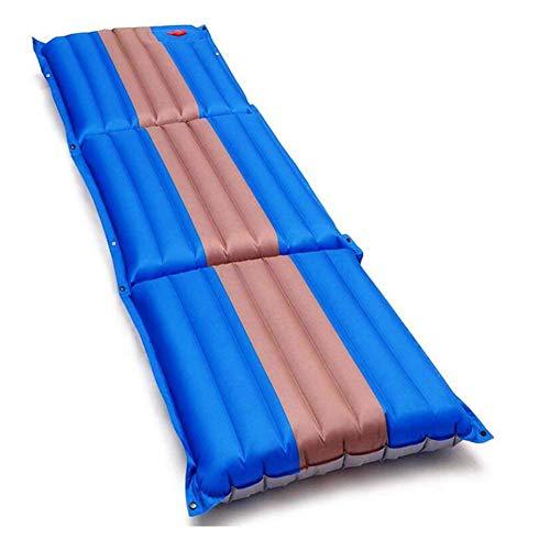 Esterilla Inflable Camping Plegable, Colchón Hinchable Impermeable con Bolsa Portátil Resistente a Humedad, para Interior y Exterior Mochilero, Hamaca de Viaje, Carpa y Saco de Dormir,Azul