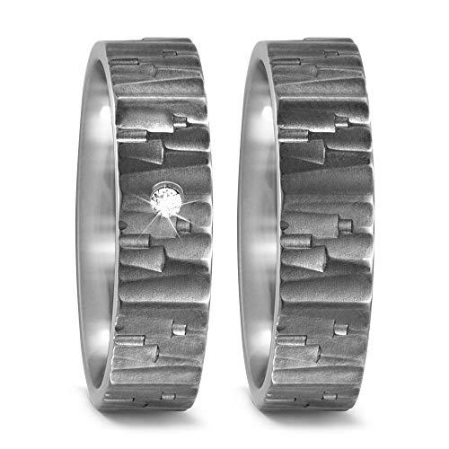 CORE by Schumann Design Trauringe Eheringe aus Titan mit echten Diamanten GRATIS Gravur 20003821