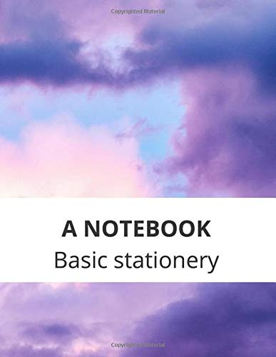 A NOTEBOOK Basic stationery: Lined Notebook Journal - purple sky - 122 Pages - Large (8.5 x 11 inches)