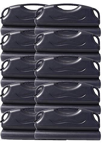 well2wellness® Pool Eisdruckpolster Set - 10 Stück a 50cm mit Sand beschwert + Verbindungshaken