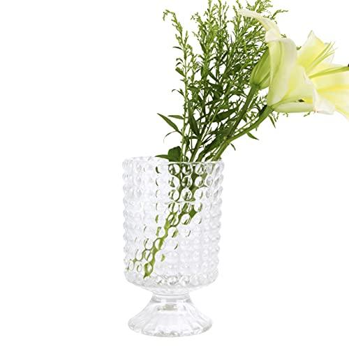 HofferRuffer Jarrón de cristal para decoración de interiores, estilo único de botella de vino para festival, boda, sala de estar, dormitorio, oficina