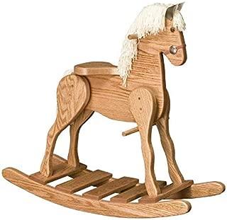 JMX Exclusive - Amish Deluxe Medium Rocking Horse (Medium Walnut)