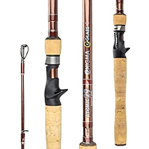 Enigma Fishing Atomic29 Pro Tournament Series High-Performance Bass Fishing Rods, Japanese Toray Graphite High Modulus 30 Ton/E-Glass 1 Pc Blanks, 9 Specific Lengths & Actions, Casting