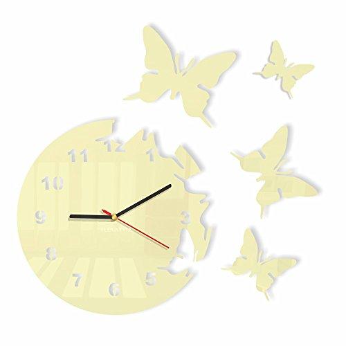 FLEXISTYLE l'horloge, Acrylique, Crème, Vanille, écru, 30cm