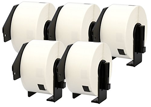 5X DK-11208 38 x 90 mm Adressetiketten (400 Stück/Rolle) kompatibel für Brother P-Touch QL-1050 QL-1060N QL-1110NWB QL-1100 QL-500 QL-500BW QL-570 QL-580 QL-700 QL-710W QL-800 QL-810W QL-820NWB