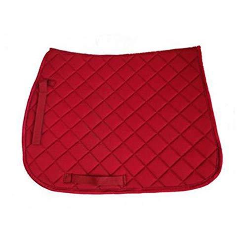 YINSONG Mantilla Comfort - Cojín Completo para Silla de Montar de Caballo Paño Cuadrado para Montar a Caballo Ecuestre de Uso General, Rojo