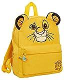 Disney, Re Leone - Zaino 3D per bambini con Simba, zaino per la scuola materna, borsa per il pranzo, Giallo (Giallo) - MNCK13125