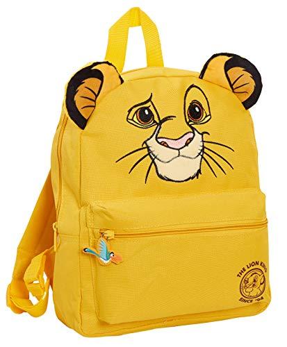 Disney Lion King 3D Rucksack Jungen Mädchen Simba Kindergarten Rucksack Mittagessen Tasche, gelb (Gelb) - MNCK13125