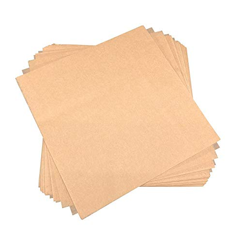 "Worthy Liners Natural Parchment Paper Squares 200 Pieces (All Sizes Available) (8""x8"")"