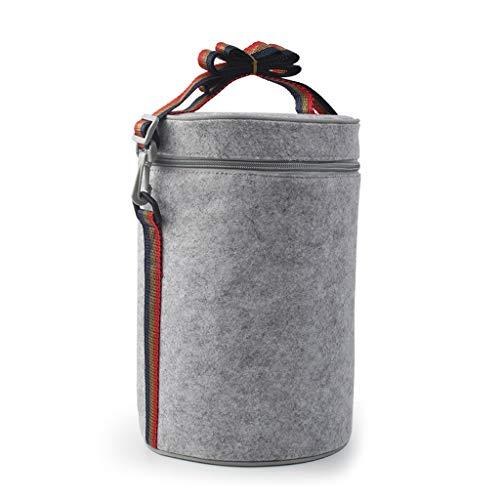 UCYG kleine waterdichte Cool Bag Box, zacht geïsoleerde Pack Lunch Bag voor mannen en vrouwen kinderen, draagbare koeltas voor picknick, camping, auto, 24x18x18cm, grijs