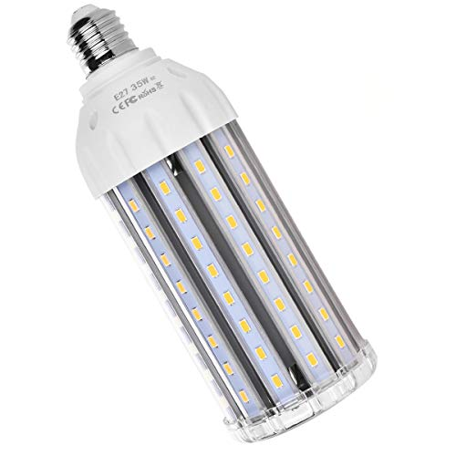 SanGlory 35W E27 LED Lampe Mais Licht Ersatz für 300W Glühlampe 3000 Lumen Warmweiß 360° Abstrahlwinkel 5730 SMD LED Leuchtmittel Energiesparlampe Super Hell für Garage Fabriklager Werkstatt