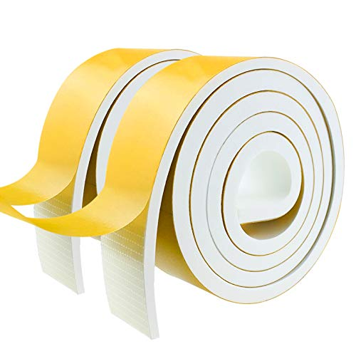 Weather Stripping Door Seal Strip,Foam Insulation Tape Self Adhesive for Doors and Windows.Soundproof Air Conditioning Seal Strip.Weather Stripping Tape. (W:2In X T:1/4In X L:6.67Ft X 2 Roll)