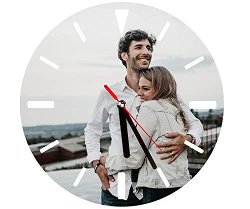 ORWONet Fotouhr – Uhr mit Foto selbst gestalten | Kinder-Wanduhr-mit-Foto | federleichtes Aluminium | Ø 27 cm | Quarzuhrwerk & Batterie inkl. | vollflächiger Druck | Foto-Wanduhr als Fotogeschenk
