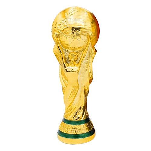 PLYY Nachbau der WM 2018, Fußball-Trophäe, Harz Handwerk, Wettbewerbe, Auszeichnungen, Ehrungen Gewinner, Geburtstagsgeschenke, goldglänzenden, 36CM hoch, 2kg